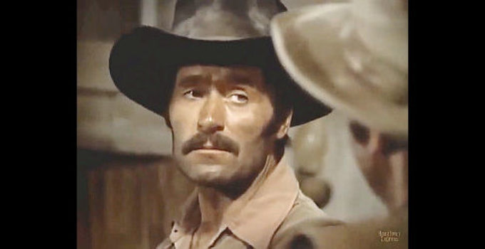 Clint Walker as Kinkaid, the bounty man known for always getting his man in The Bounty Man (1972)