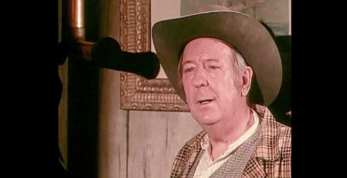 Paul Ford as F.O. McGill, owner of the Fairhaven Hotel, a haven for outlaws in Fairplay (1971)